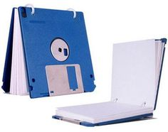 Recycle a floppy disk: vintage note pad - Recycle Lovers