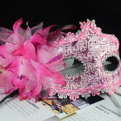 Melody Melody 2013 NEW Mask Halloween Christmas Party Venetian Mardi Gras Masquerade Mask Party Costume Mask - With beautiful Lily flower More colors available (Pink) by Melody party favor, http://www.amazon.com/dp/B00CNQY8QG/ref=cm_sw_r_pi_dp_oAljsb113EV0D