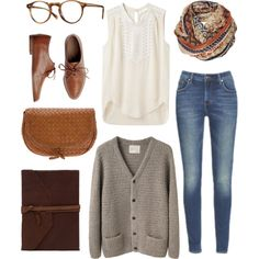 Untitled #25 by yarinm on Polyvore -I love the extra glasses... So cute! Showing a little nerdy look.