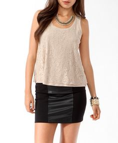 Lace Swing Tank | FOREVER 21 - 2000046543