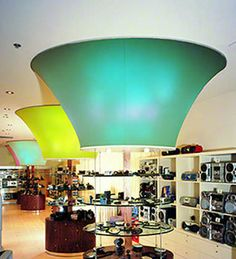 Acoustic suspended ceiling / canvas / freestanding - MODULAR - BARRISOL