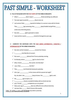 Past Simple Worksheet - Past Simple Worksheet Pasado Simple Ingles Ingles Basico Para Simple Past Tense Add Ed English Esl Worksheets For Distance Past Simple Tense Worksheet. Teaching English Grammar, English Grammar Worksheets, Grammar Lessons, Writing Lessons, Teaching Spanish, Grammar Exercises, English Exercises, English Lessons, Learn English