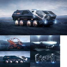 Some nice concepts from Arthur Max design team for movie Prometheus