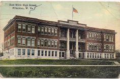 Princeton West Virginia WV Mercer County Postcard  Is now Mercer Elementary School, Mercer Street