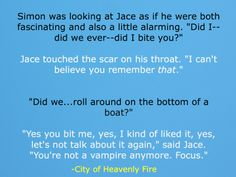 City of Heavenly Fire SPOILER Simon/Jace Haha! I loved this part!