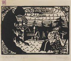 Collection Online   Vasily Kandinsky. Two Girls (Zwei Mädchen). 1907 - Guggenheim Museum