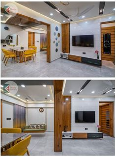 Colorful Interior Design, Office Interior Design, Interior Decorating, Small House Furniture, Bedroom Furniture Design, Furniture Ideas, Tv Unit Design, Tv Wall Design, Indian Home Design