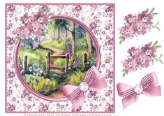 Foxgloves in the woods decoupage on Craftsuprint - Add To Basket!