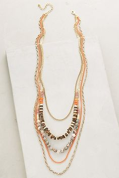 Sea Depths Layered Necklace #anthropologie