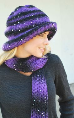 Knitting Loom ~ Downtowner Hat and Scarf ~ Free Pattern
