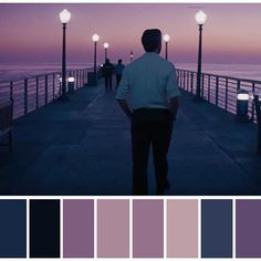 Color Script for La La Land Movie Color Palette, Colour Pallette, Beau Film, Color In Film, Movies In Color, Cinema Colours, Damien Chazelle, Color Script, Cinematic Photography