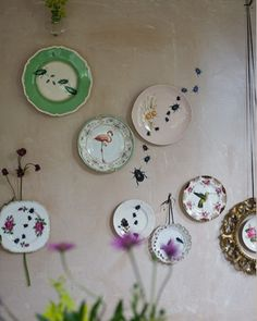 upcycled china from Lou Rota