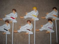 1 chocolate karate martial arts ninja kicker molded lollipops lollipop | sapphirechocolates - Edibles on ArtFire