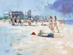 Miami Beach 02, 150x200cm/59,06x78,74 inch, acrylic on canvas.