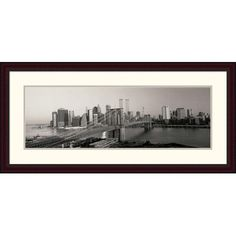 Global Gallery 'Brooklyn Bridge and Manhattan at Sunrise' by Joseph Sohm Framed Graphic Art