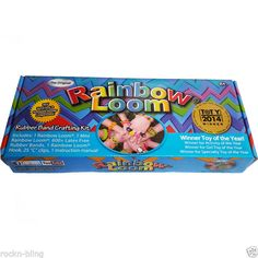 2014 Authentic Genuine Rainbow Loom Kit -Loom+metal hook+mini loom+bands+clips