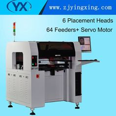 High Stability 6 Heads SMT660 Pick and Place Machine English Version Mounting Technology 64 Feeders LED Mounting Machine