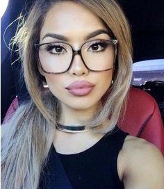2020 Women Glasses Eyeglass Frames For Women Designer Glasses Online F – ffshoop Cute Glasses, Girls With Glasses, Oversized Glasses, Fashion Eye Glasses, Eyeglasses Frames For Women, Best Lipsticks, Outfit Trends, Wearing Glasses, Womens Glasses