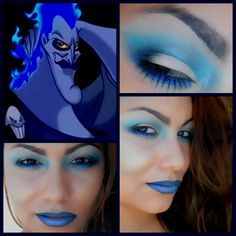 Disney Villain Inspired Makeup look: Hades