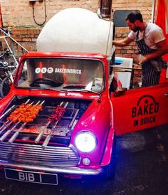 Converted Minim, Grill and Pizza oven available to hire in the Midlands area. www.lovecandyfloss.com Street Food.