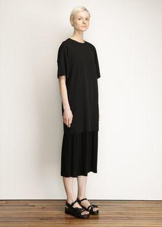 Y's by Yohji Yamamoto Wool Shirt Dress (Black)