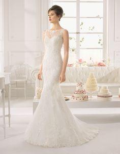 A világhíres Rosa Clara Aire Barcelona kollekciójának esküvői ruhái  kedvezményes áron megvásárolhatóak és kölcsönözhetőek a La f6e5263fee