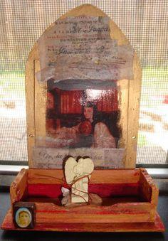 altar shrine Juana Inés de la Cruz things I made at one time..