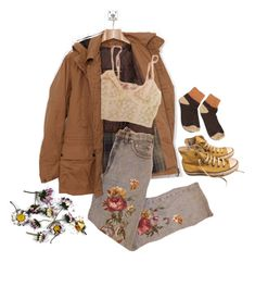 """pushing daisies, or whatever"" by hosoboyo ❤ liked on Polyvore featuring Converse"