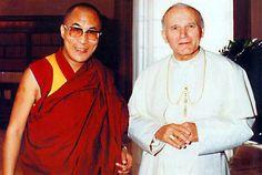 Dalai Lama and a previous pope - John Paul II