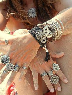 BEST Boho Jewelry, Bohemian style stacking rings & gypsy fashion wrap bracelets by HappyGoLicky Jewelry FOLLOW @HappyGoLicky Custom Silver Jewelry on Etsy http://www.pinterest.com/happygolicky/the-best-boho-chic-fashion-bohemian-jewelry-gypsy-/