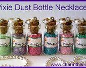 A Bottle Of Pink mini Bottle Necklace. $6.00, via Etsy.