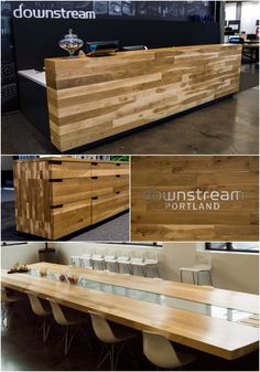 Custom Casework For A Commercial Office Remodel In Portland, Built With  Solid Oregon White Oak