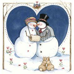 *Love & Snow* Sandi Gore Evans    Adorable Christmas cross stitch idea
