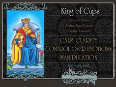 The King of Cups Tarot Card Meanings