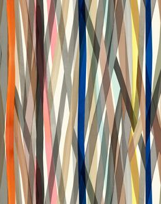 'Transparent Stripe,' a study in overlapping washes of watercolor, reflecting the fashion designer Paul Smith's signature use of color. via Maharam