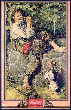 This is one of three missing paintings Norman Rockwell did for Coca-Cola in the 1930s.