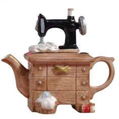 Sewing Machine Unique Teapot