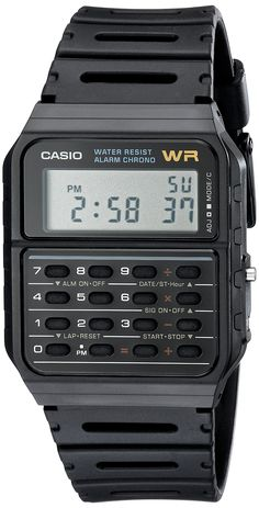 Casio Men& Calculator Watch - Jewelry For Her Retro Watches, Vintage Watches, Cool Watches, Watches For Men, Cheap Watches, Casio Vintage Watch, Casio Watch, Nostalgia, Old Computers