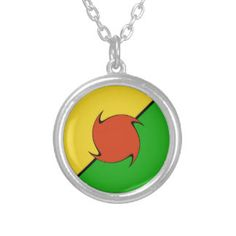 Sun – Earth – Man Silver Plated Necklace