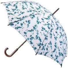 Kensington Umbrella Walking Length - Porcelain Bloom - Brolliesgalore