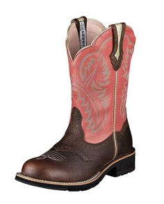 Women's Showbaby Boot - Brown Oiled Rowdy/Wild Rose