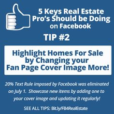 Facebook success tips for Real Estate professionals, brokers, and realtors via @TabSite