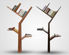 If you're the romantic type and long for summer afternoon readings out in the park, the Booktree shelves will help you recapture the feeling. (Designer: Kostas Syrtariotis)