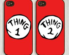 Thing 1 Thing 2, Best friend, Couple, Matching case available in iPhone 4/4s 5/5s 5c and Galaxy s4, designed and created by CellShells. Cellphone accessories, Cellphone cases.