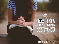 Dios esta a una oración de distancia    #Dios #Jesus #EspirituSanto #Oración #Fe #Amen #Aleluya #GloriaADios #Avivamiento #FrasesCristianas #FrasesDeDios #FrasesDeBendición #Frases #CreoEnDios #Cristocentricos #Cristianos #AdorandoalRey