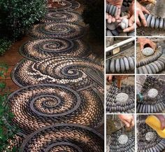 Awesome stone pathway.  Reminds me of the stone floor of the Portland Japanese Garden.
