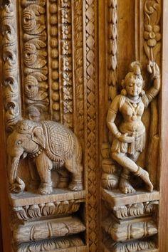 61 Ideas Wooden Door Interior Stones For 2019 Front Door Design Wood, Wooden Door Design, Wooden Doors, Curtain Designs For Bedroom, Diy Door Knobs, Door Hangers, Nepal, Wood Carving Designs, Carving Wood