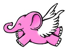 Flying Elephant by JoeQkz on DeviantArt Flying Elephant, Elephant Art, Cute Elephant, Pink Elephant, Tigger, Minnie Mouse, Disney Characters, Fictional Characters, Deviantart