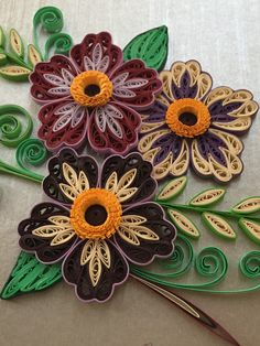 From Can - - Best Paper Quilling Designs Neli Quilling, Paper Quilling Cards, Quilling Work, Paper Quilling Flowers, Paper Quilling Patterns, Paper Quilling Jewelry, Origami And Quilling, Quilled Paper Art, Quilling Craft