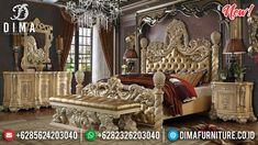 Luxury Ukiran Classic Tempat Tidur Jepara Mewah Royal Sultan DF-1317